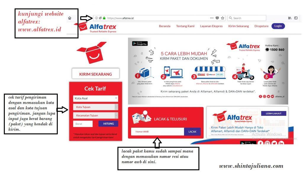 panduan website alfatrex