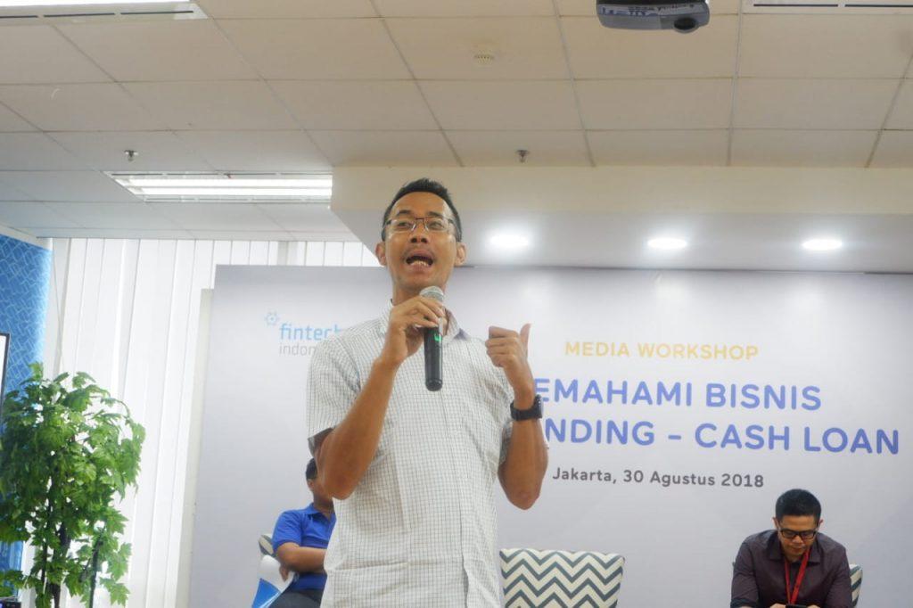 Bapak Sunu Widyatmoko selaku ketua bidang pinjaman cash loan aftech