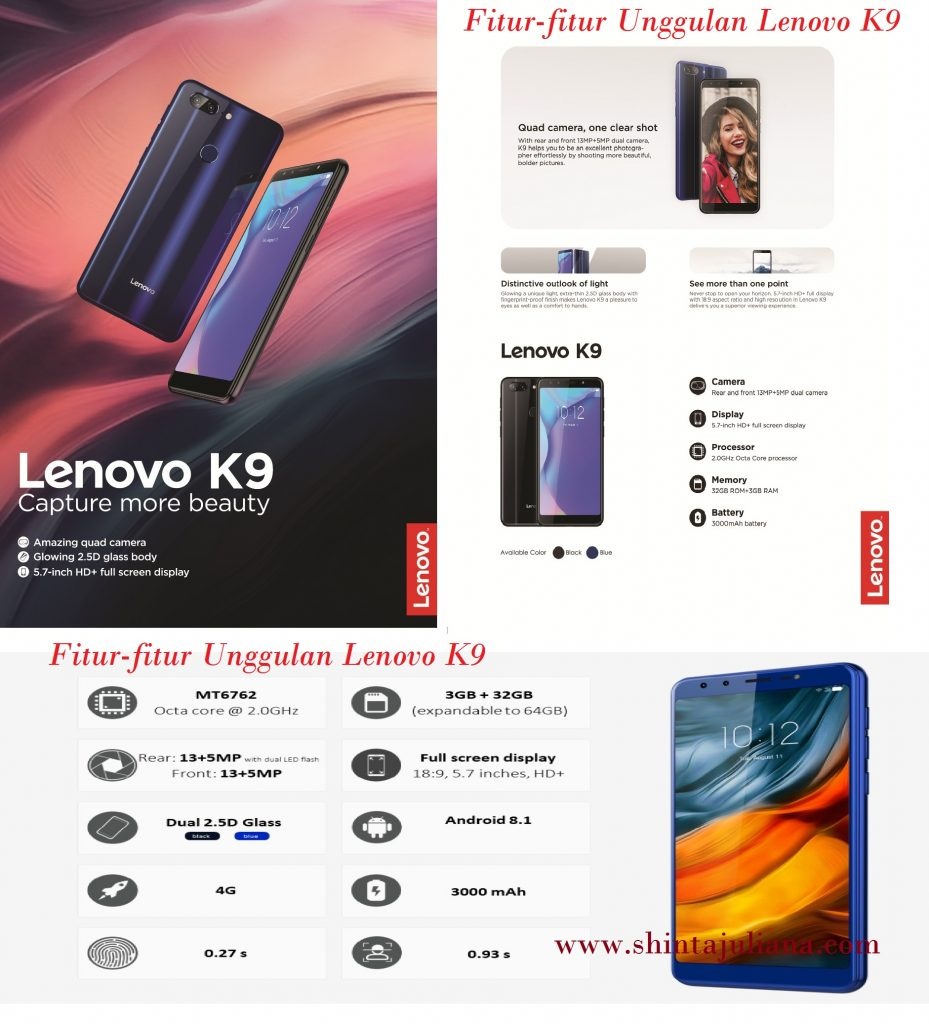 Fitur-fitur Unggulan Lenovo K9