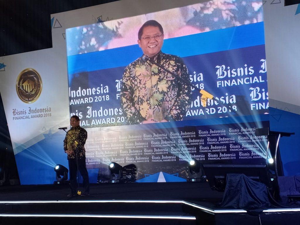 Bapak Rudiantara dalam Bisnis Indonesia Financial Award