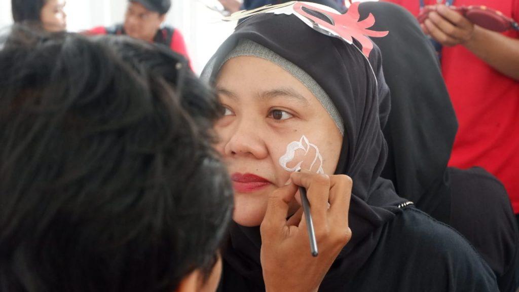 Face painting di Mandiri Karnaval 2018