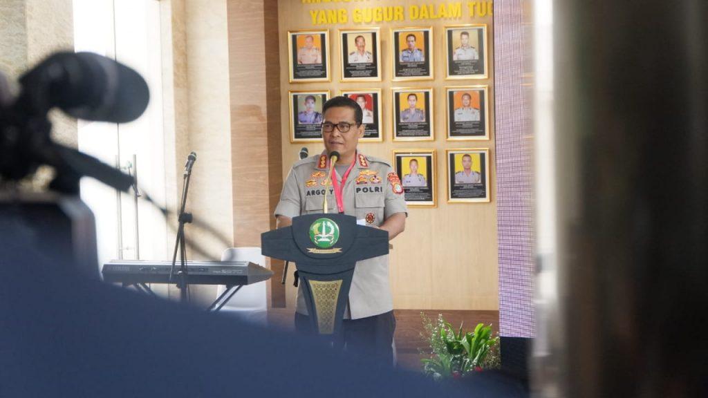 Kadiv Humas Polda Metro Jaya, Kombes Pol. Argo Yuwono menyampaikan sambutannya